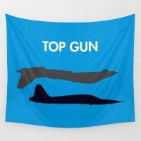 gun Wall Tapestries featuring Top Gun  by NotThatMikeMyers