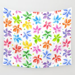 Floral Leaves Wall Tapestry