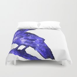Purple Raven Painting | Space Raven | Raven Constellation | Space Animals Duvet Cover