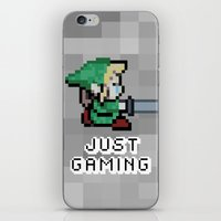 gaming iPhone & iPod Skins featuring JUST GAMING by Edgar