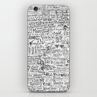 lyrics iPhone & iPod Skins featuring TS lyrics by Faith