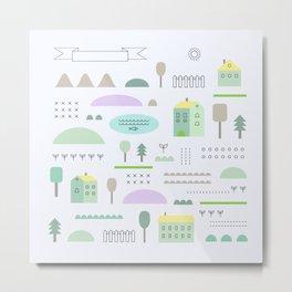 Eco structure Metal Print