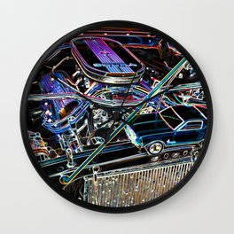 The engine of a sports car Wall Clock