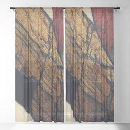 Epidote and Quartz Sheer Curtain