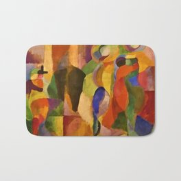 La Bal Bullier (Dancers under Saint-Michel Theater Dome Lights) by Sonia Delaunay Bath Mat