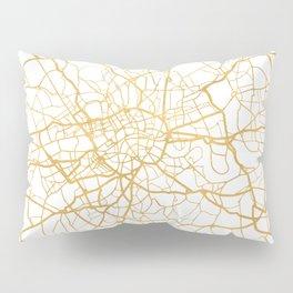 LONDON ENGLAND CITY STREET MAP ART Pillow Sham