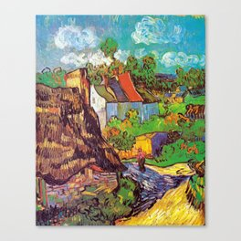 Vincent van Gogh Houses at Auvers Canvas Print