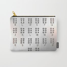 Metal Braille alphabet, tactile writing system used by blind or visually impaired people Carry-All Pouch