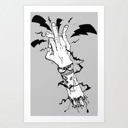 Electric Gang Signs! (B&W) Art Print