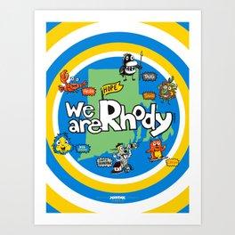 MADink We Are Rhody! #HopeAlwaysFloats #RI #RhodeIsland Art Print