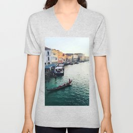Afternoon in Venice Unisex V-Neck