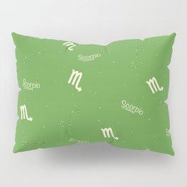 Scorpio Pattern - Green Pillow Sham