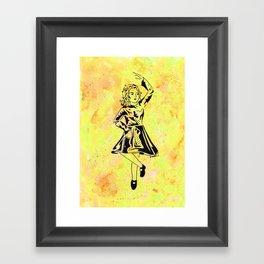 Imbolc  (traditional Irish step dancer celebrating Brigid and the festival of light) Framed Art Print