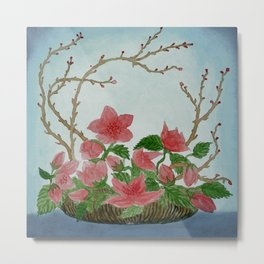 Ikebana Flowers II Metal Print