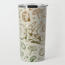 Triceratops Rocks! | Leaf Green & Pumpkin Spice Ombré Travel Mug