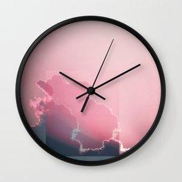 Pink Light Wall Clock