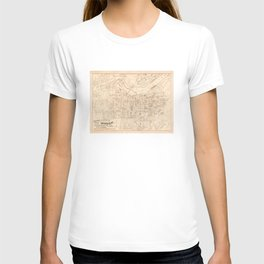 Vintage Map of Louisville KY (1879) T-shirt