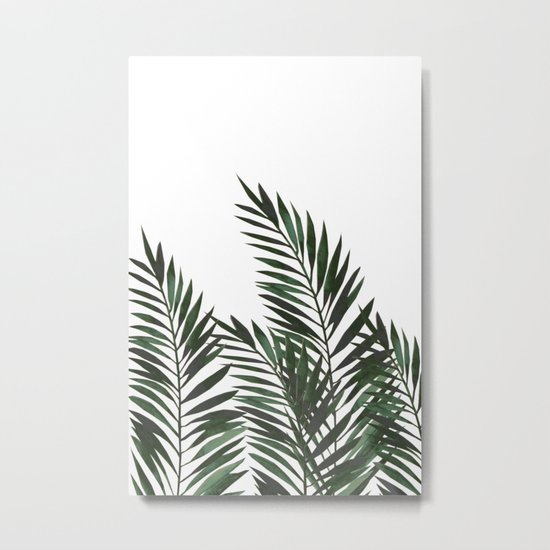 Palm Leaves Green Metal Print