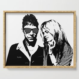the_Kills - Black and White Serving Tray