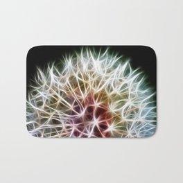 Fractal dandelion Bath Mat