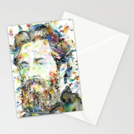 HERMAN MELVILLE - watercolor portrait.1 Stationery Cards