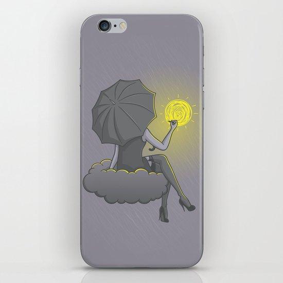 Drawin' in the rain iPhone & iPod Skin