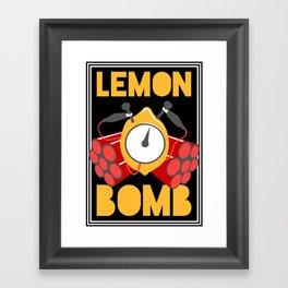 Lemon Bomb Framed Art Print