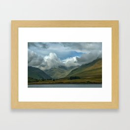 Cloudy afternoon in Connamara Framed Art Print