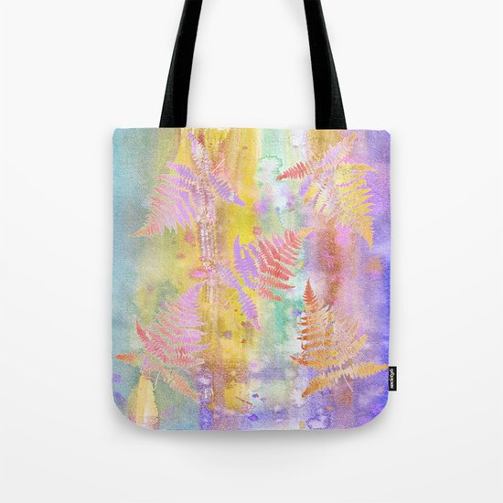 Colorful Fern Leaves W Tote Bag