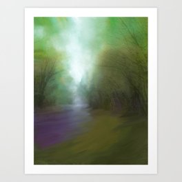 Stream of Light Art Print