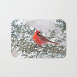 Winter's Beauty Cardinal Bath Mat