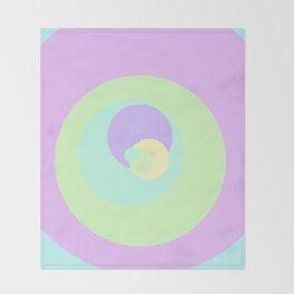 Pastel Target Throw Blanket