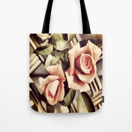 Vintage Rose Garden - Painterly Tote Bag