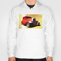 ford Hoodies featuring Flames Ford by D. H. Carter