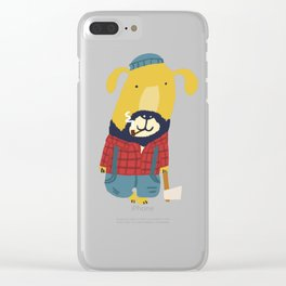 Rugged Roger - the lumberjack Clear iPhone Case