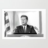 jfk Art Prints featuring JFK by Darkhorse