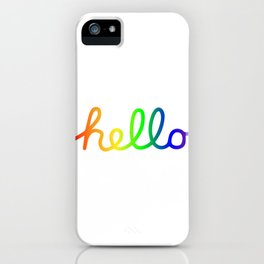 Oh Hello! Coloful Version iPhone Case