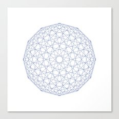 #409 Low-res sphere – Geometry Daily Canvas Print