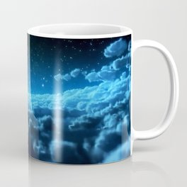 Tardis Cloud And Moon Coffee Mug