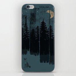 A Fox in the Wild Night... iPhone Skin