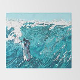 Wipe out Throw Blanket