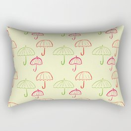 Happy Umbrella Rectangular Pillow