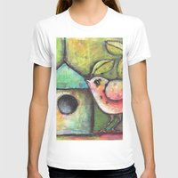 shopping T-shirts featuring House Shopping by Terri Stegmiller