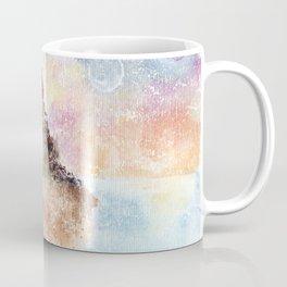 Mysterious Island Watercolor Illustration Coffee Mug