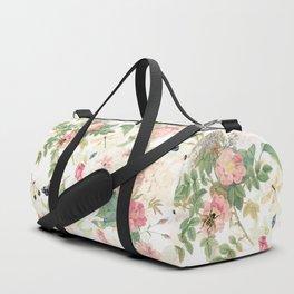Vintage & Shabby Chic - Botanical Flower Roses Garden Duffle Bag