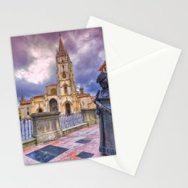Cathedral of San Salvador  in Oviedo. Stationery Cards