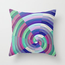 spinning colors Throw Pillow