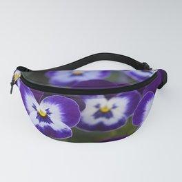 Purple Pansies Fanny Pack