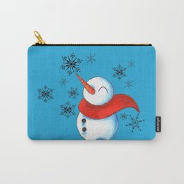 Snowmen and Snowflakes Carry-All Pouch
