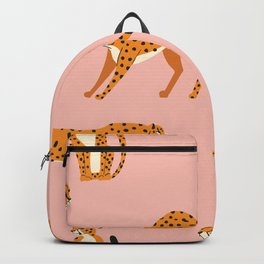 Cheetahs pattern on pink Backpack